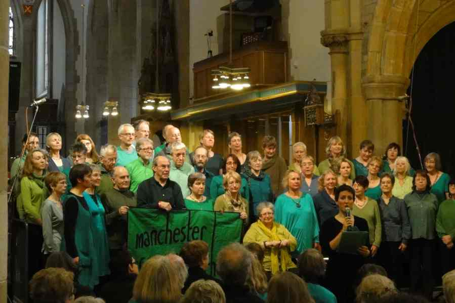 choir singing at Raise Your Banners, Bradford November 2011