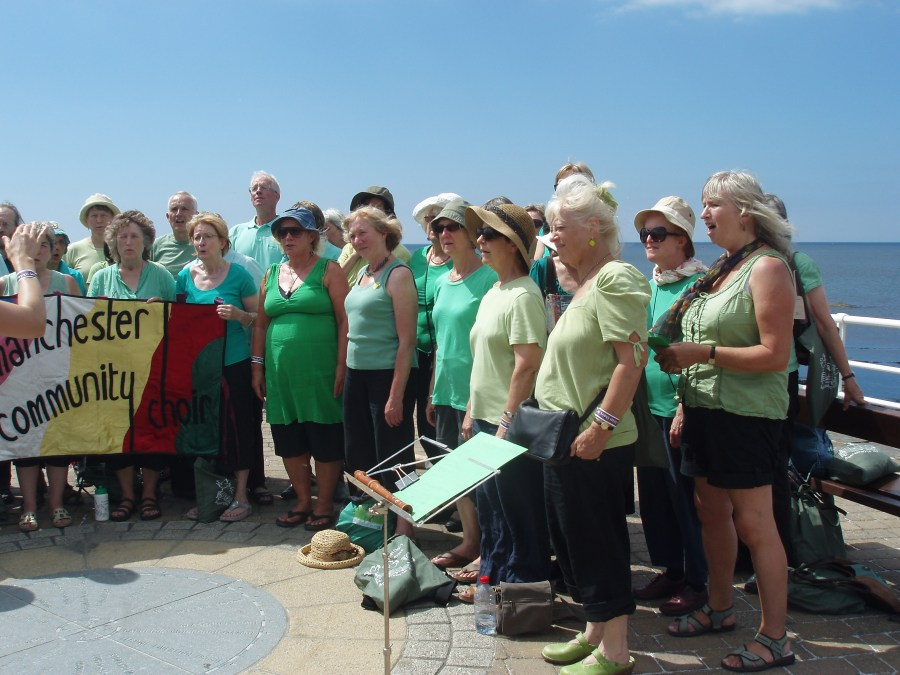 Screet Choir Festival 2013 in Aberystwyth - busking on the promenade