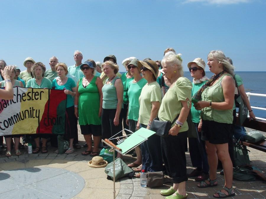 Screet Choir Festival 2013 in Aberystwyth - busking on the promenade
