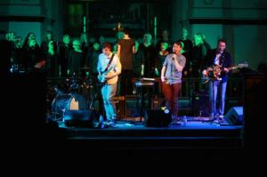 On stage at St Phil's