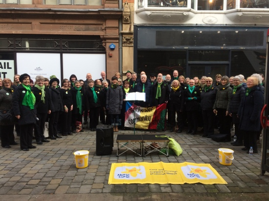 Marie Curie busking 4 March 2017