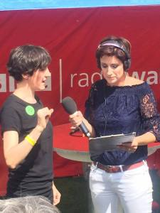 Liz Powers interviewed by Connie Fisher live on BBC Radio Wales