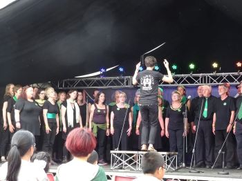 In performance at Llangollen 2017