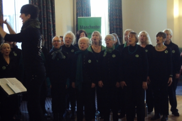 The altos in fine voice, with our MD Liz Powers in the foreground